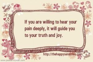 hear own pain wp