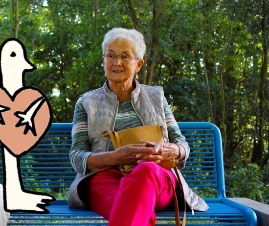 meeting up with grandma