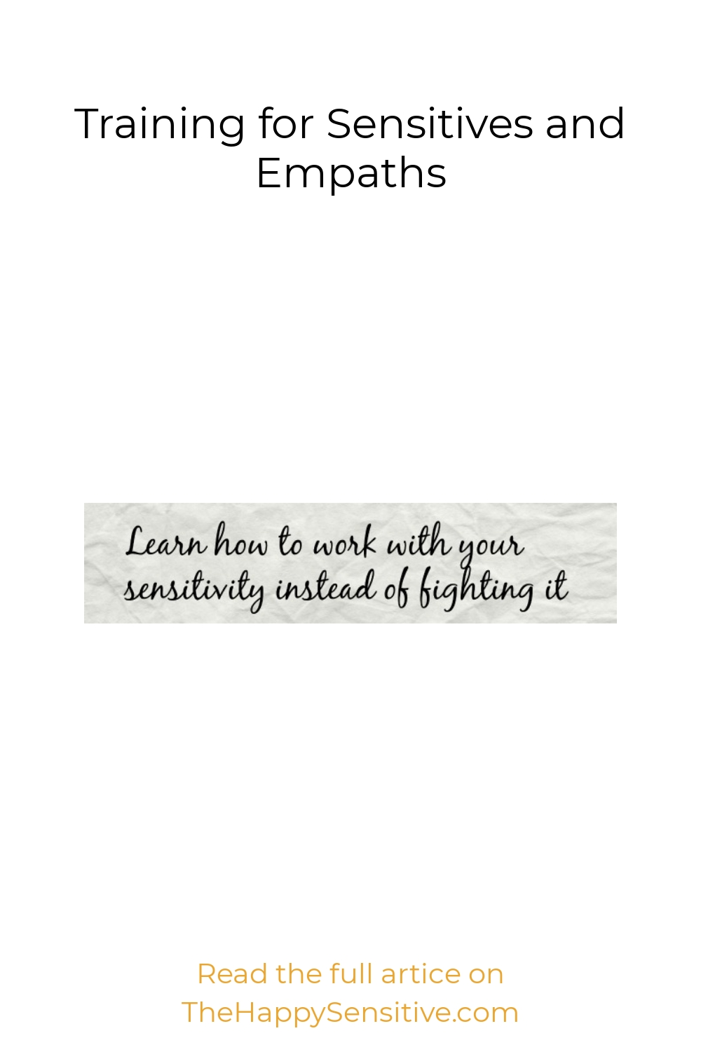 Training for Sensitives and Empaths
