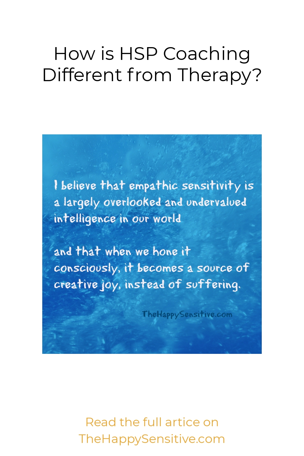 How is HSP Coaching Different from Therapy?