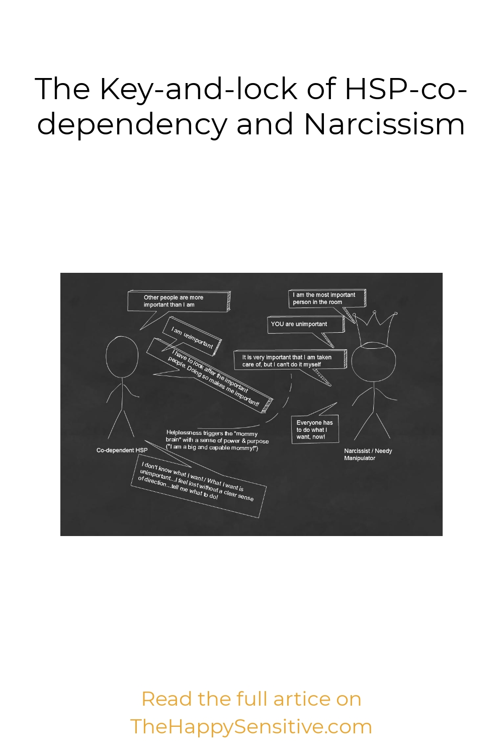 The Key-and-lock of HSP-co-dependency and Narcissism