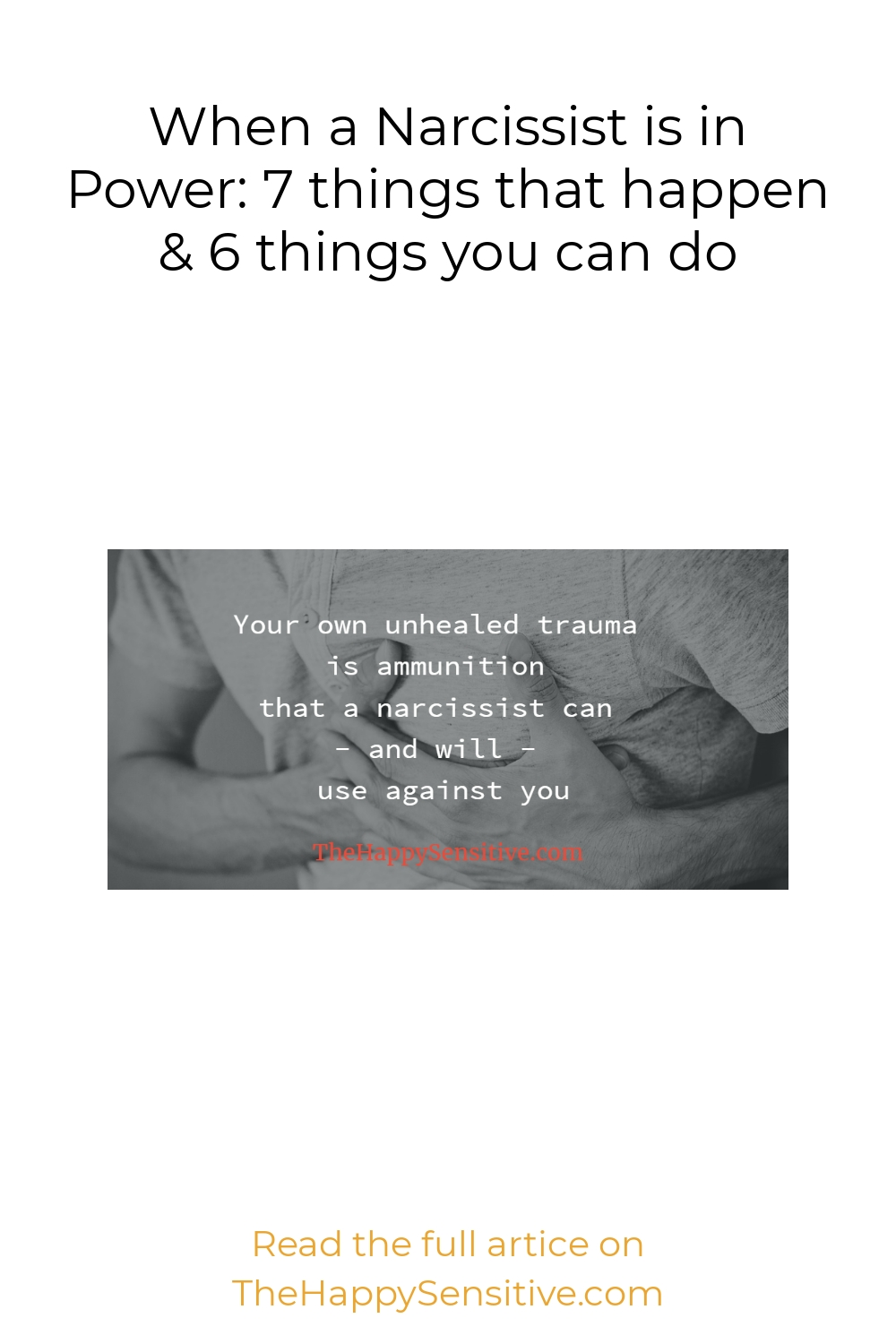 When a Narcissist is in Power: 7 things that happen & 6 things you can do