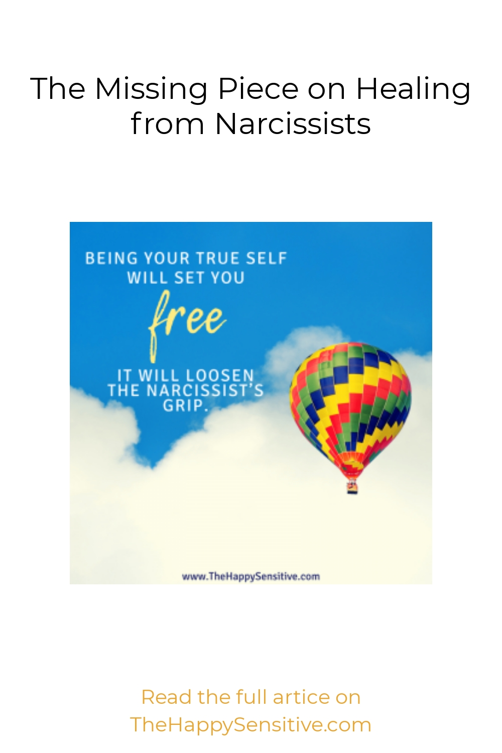 The Missing Piece on Healing from Narcissists