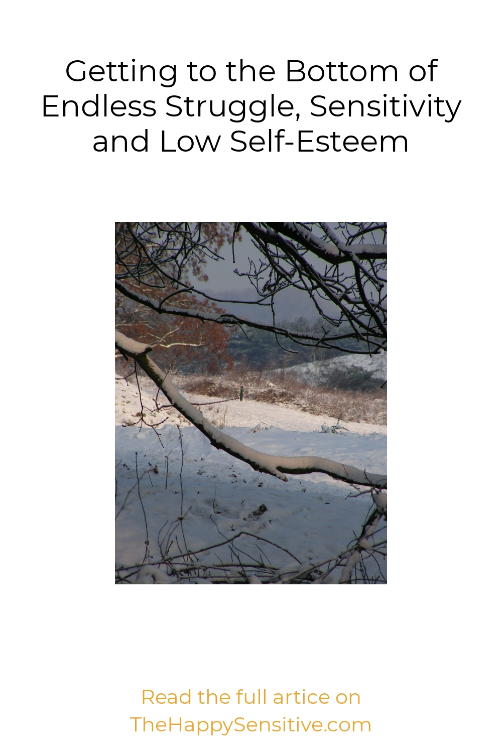 Getting to the Bottom of Endless Struggle, Sensitivity and Low Self-Esteem